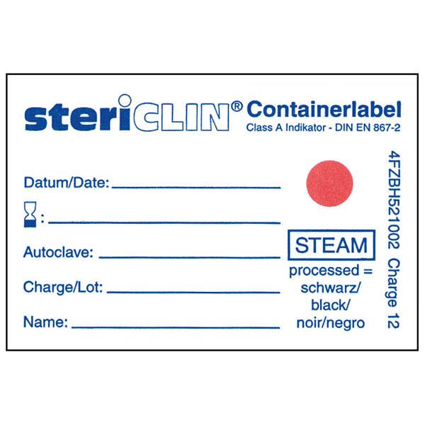 Containerlabel mit Dampfindikator