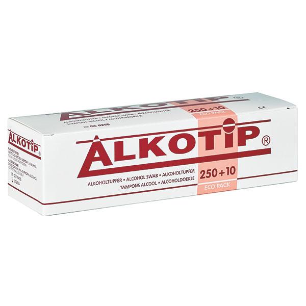 Alkotip ECO-Standard Alkoholtupfer, 250 Stück, zur Hautreinigung