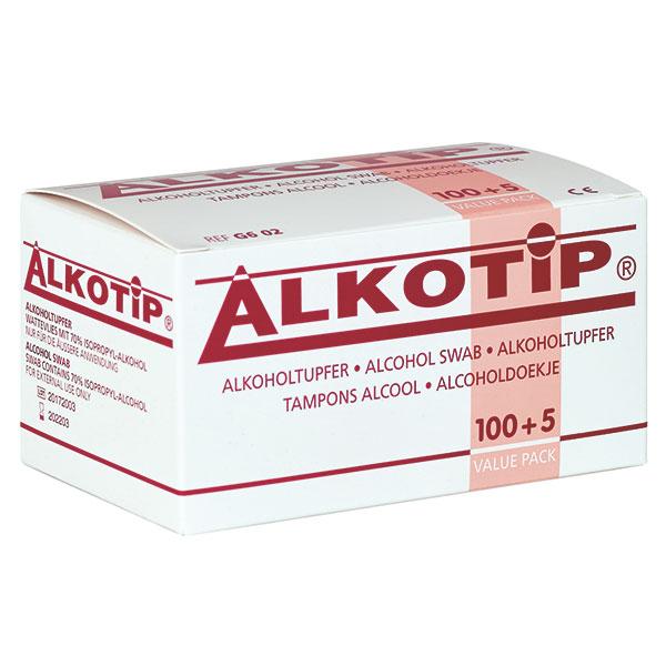 Alkotip Standard Alkoholtupfer, 105 Stück, zur Hautreinigung