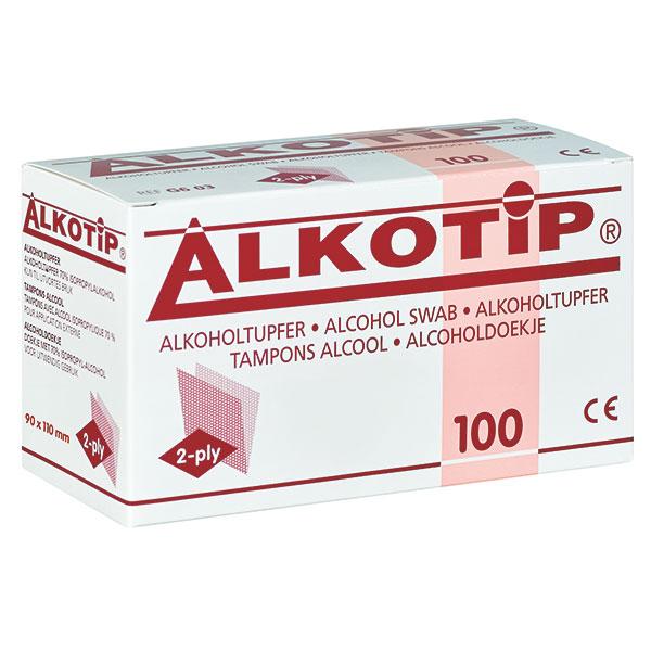 Alkotip Alkoholtupfer > large, 100 Stück, zur Hautreinigung