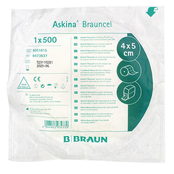 Askina Brauncel Zellstofftupfer B.Braun