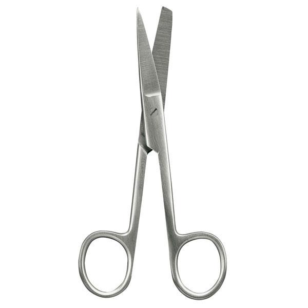 Chirurgische Schere > Gebogen, spitz - stumpf